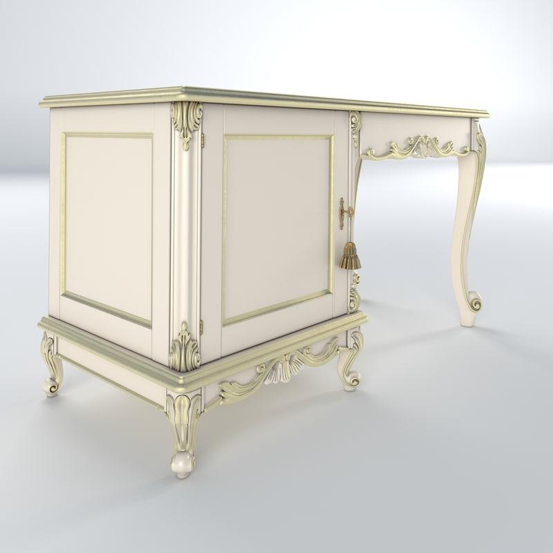 desk fridge compartment 3d model