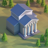 3d model classical building