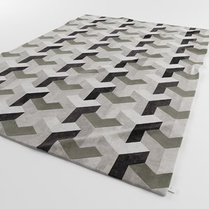 designer carpets ypsilon grey 3d model