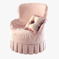 3d model girls armchair ferretti