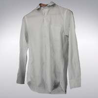 Men's Shirt White - 3D Scanned