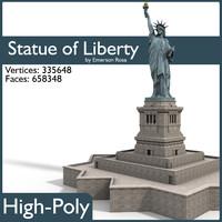 3d statue liberty model