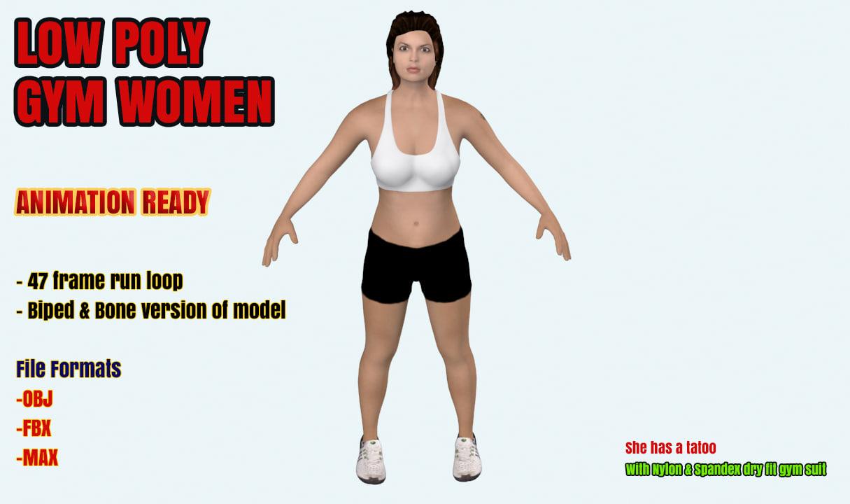 3d gym female model