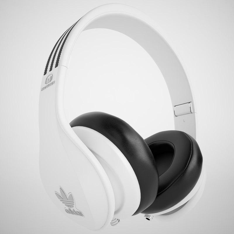3d model monster headphones beats