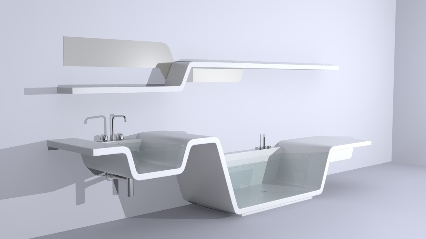 modern bathroom 3d model
