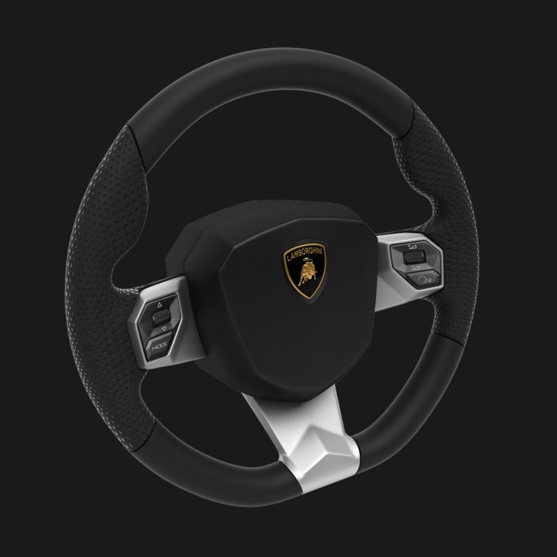 lamborghini steering wheel 3d 3ds
