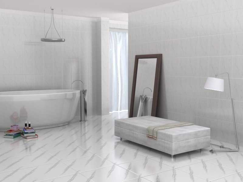 3d model of bath room