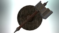 hammer shield 3d model