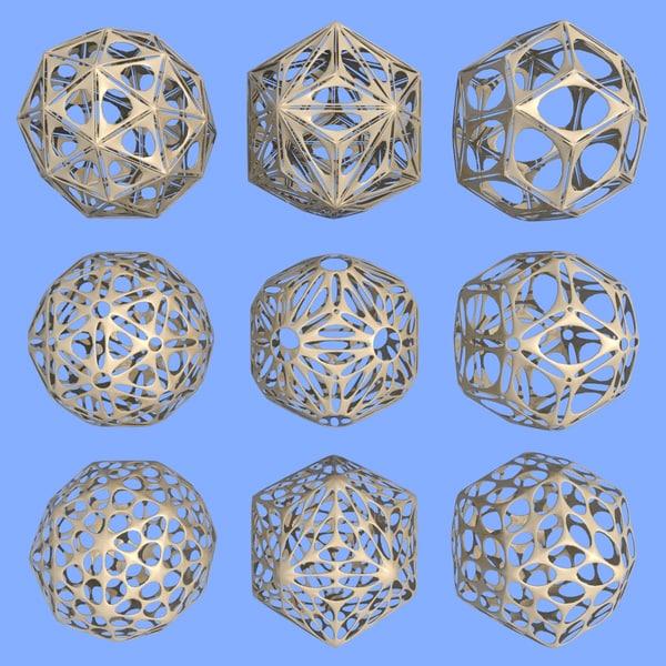 3d model geometric shape mht-10