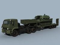 3d model kamaz-65225 shilka combo