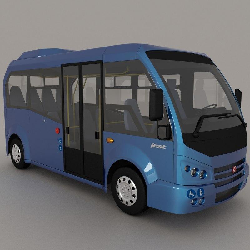 3d model karsan jest minibus