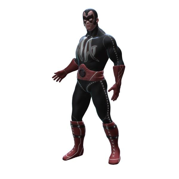 led superhero wrestler super