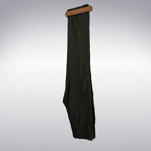 3d men s pants dark gray model