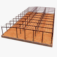 3d building steel frame