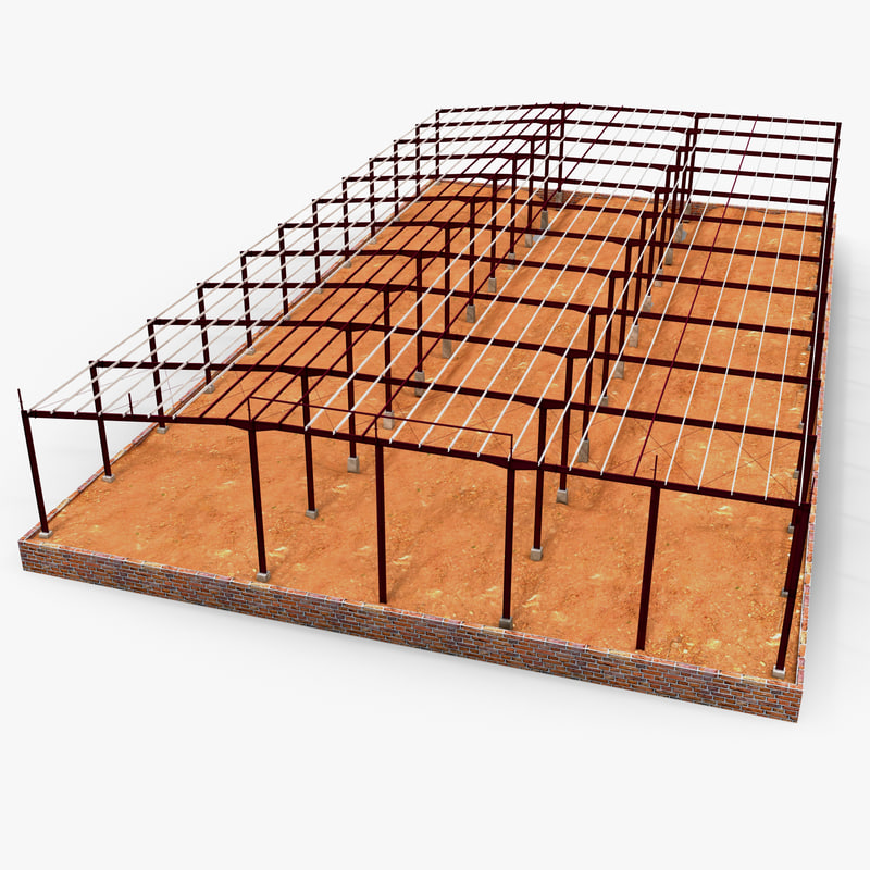 3d building steel frame