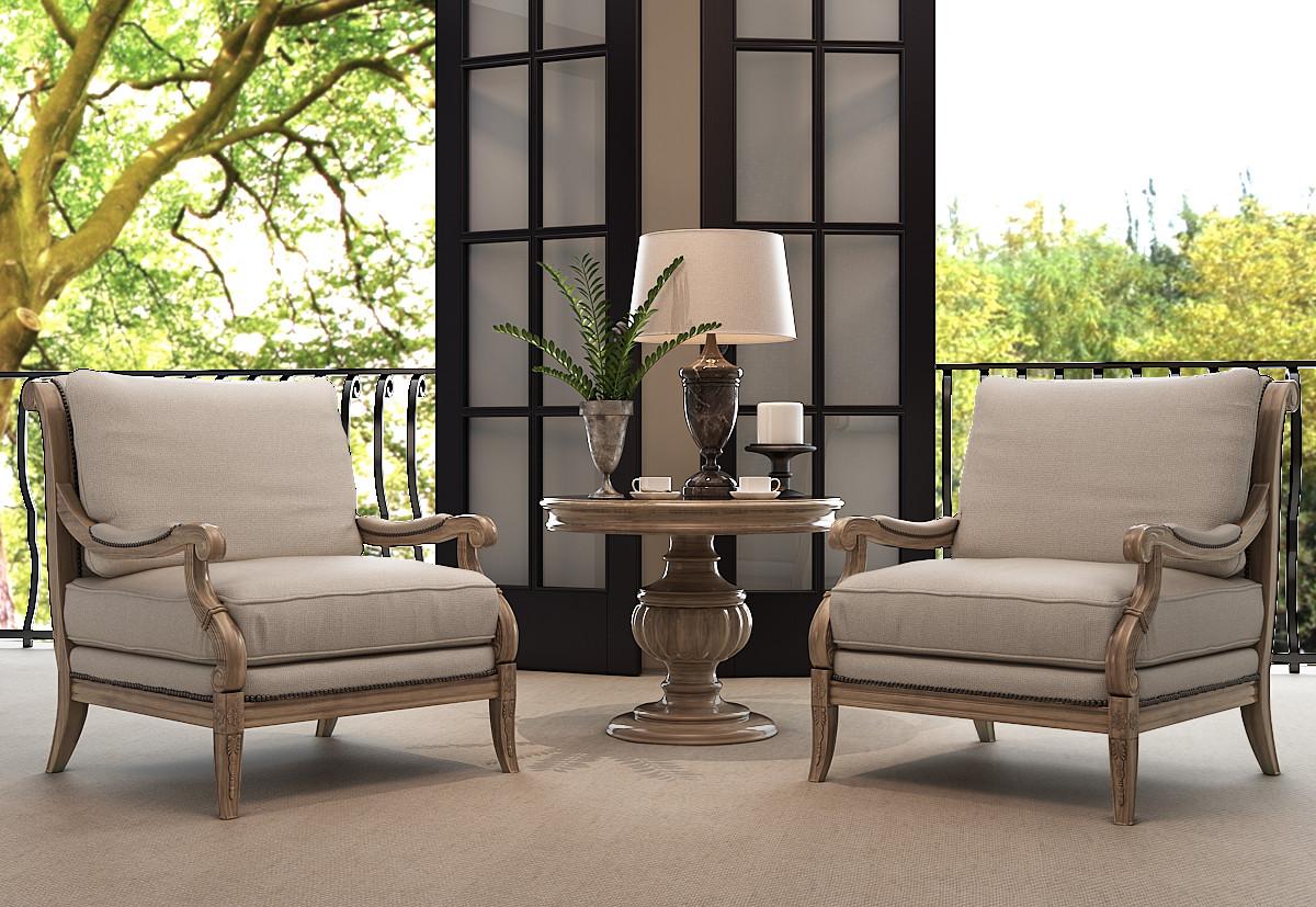 lexington armchairs table lamp 3d model