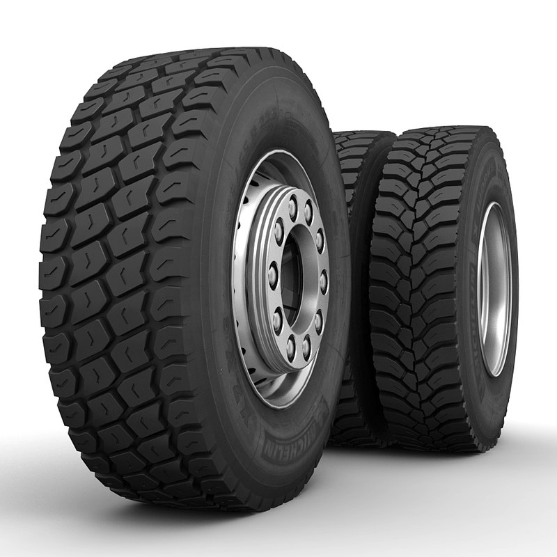 3d model of truck wheels