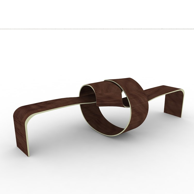wooden bench dxf