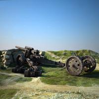 3d max 105 mm howitzer
