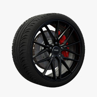 advanti vertex wheel 3d model