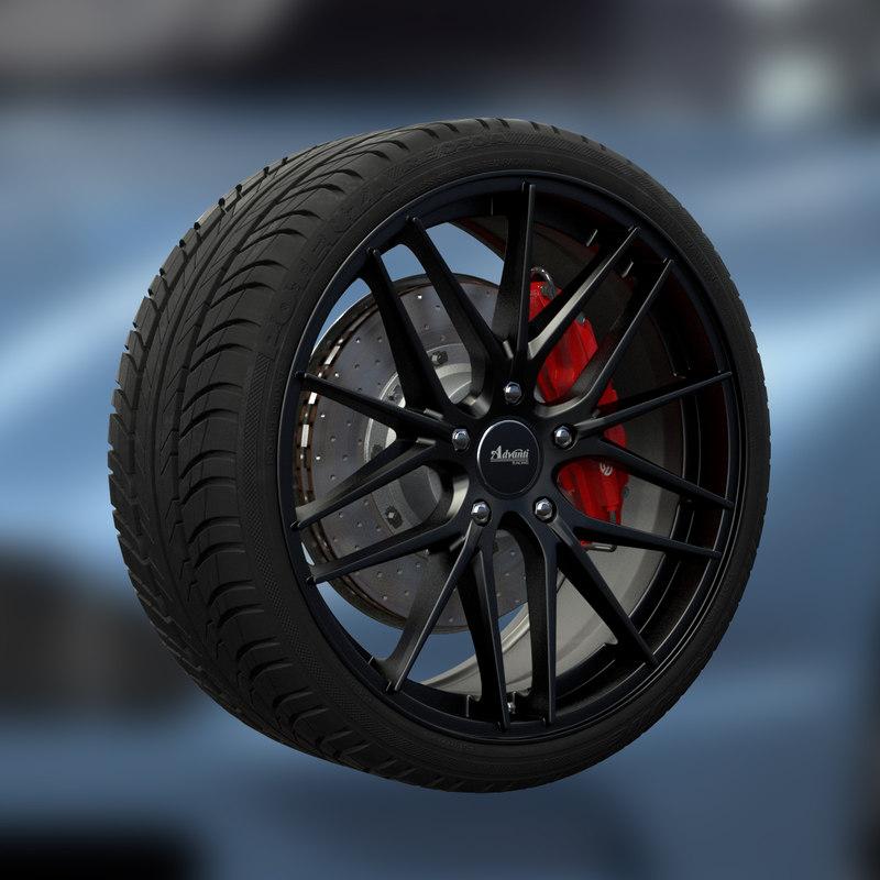 advanti vertex wheel 3d model
