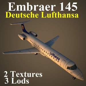 3d embraer dlh model