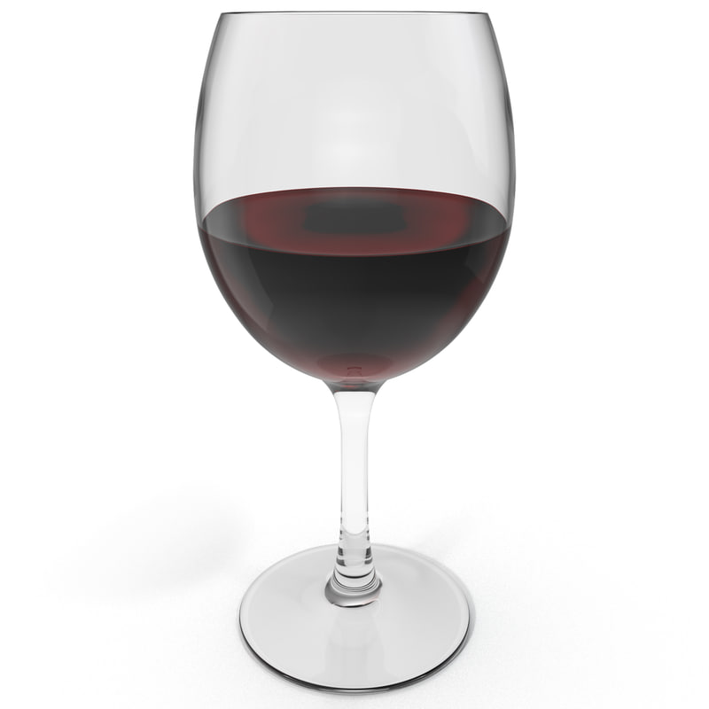 red wine glass 3ds