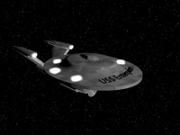 uss enterprise 3d model