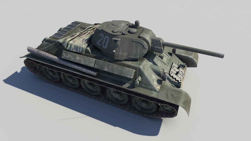 3d tank t-34 76 model