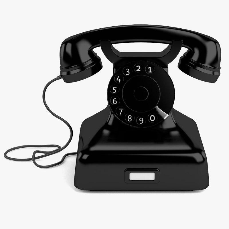 3ds max retro telephone