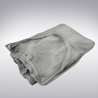 T-shirr Gray Folded - 3D Scanned