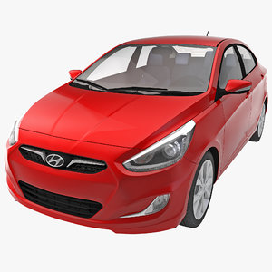 3d model car hyundai accent 2014