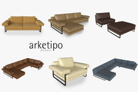 3d model arketipo ego sofa