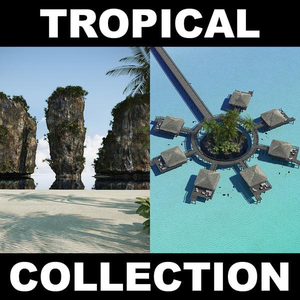 beach 1 tropical 3d max