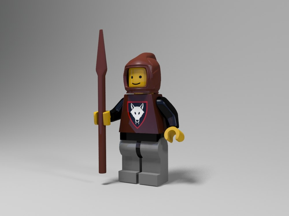 3d model lego medieval character 3