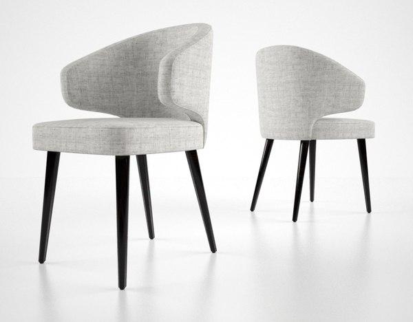 3d model minotti aston dining chair