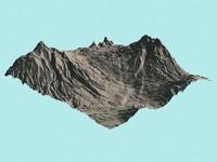 obj mountains terrain