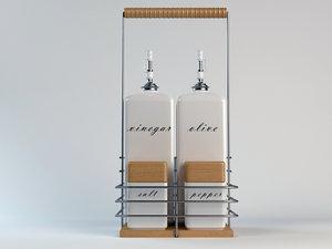 kitchen accessories set 02 3d model