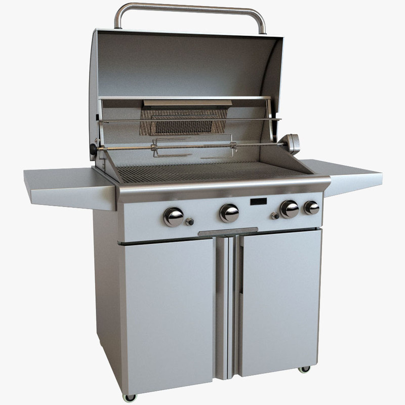 3ds max outdoor grill