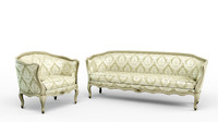 Sofa and armchair in the style of provence