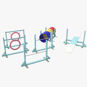 dog agility equipment 3d model