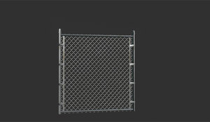 3d model wire fence