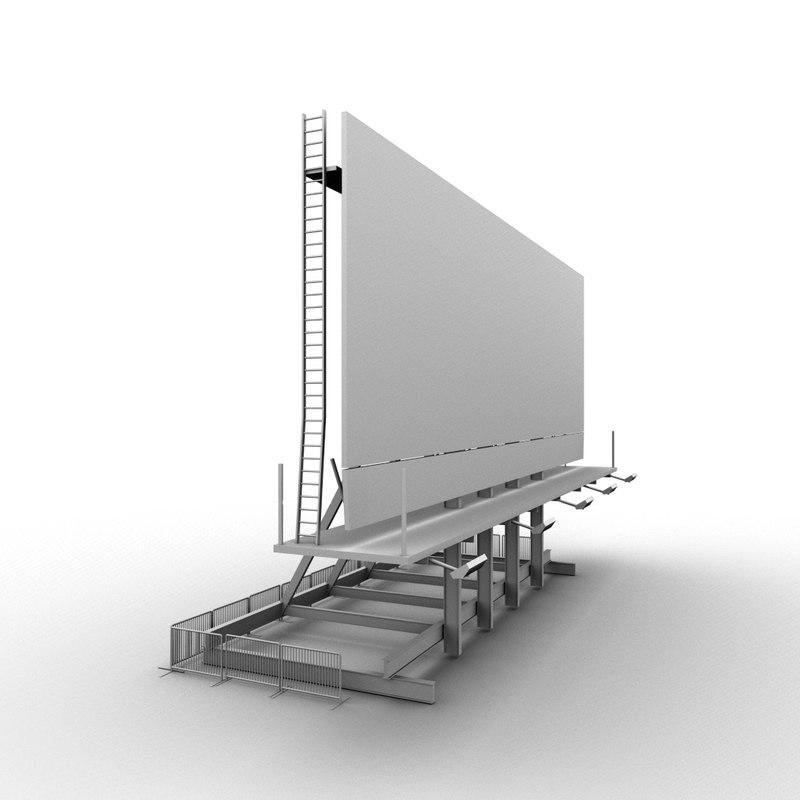 3d rooftop billboard model