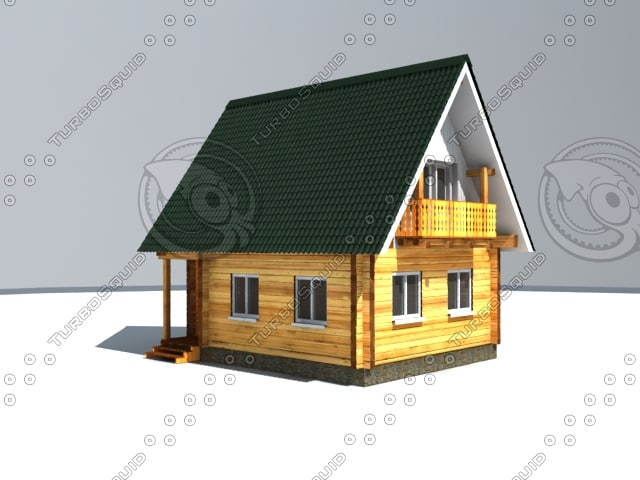 3d small summer house