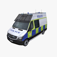 photorealistic mercedes sprinter 2014 3d model