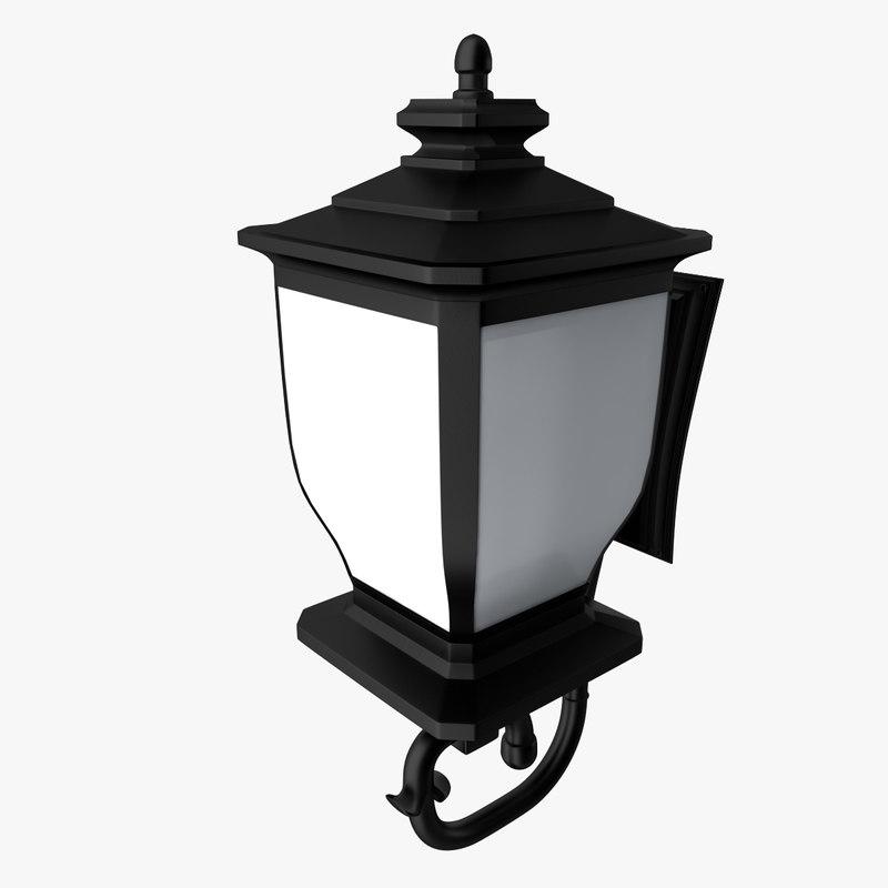 realistic lantern 3d 3ds