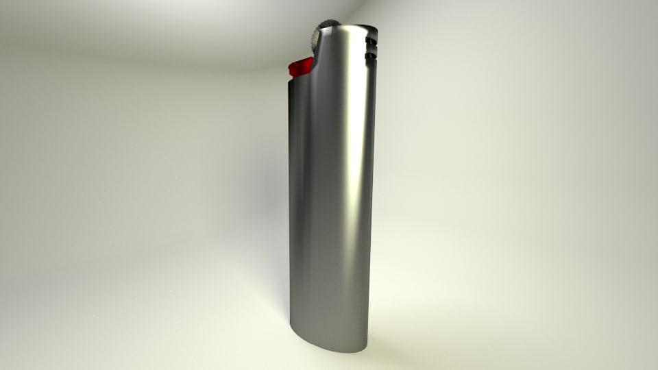 free lighter 3d model