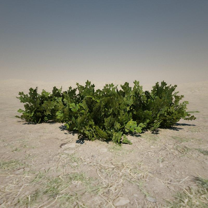 3ds max small bush