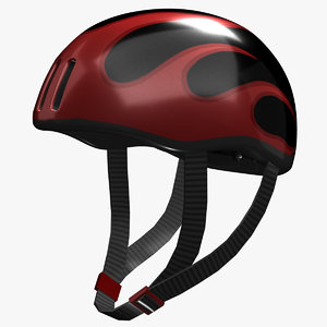realistic bicycle helmet 3d model