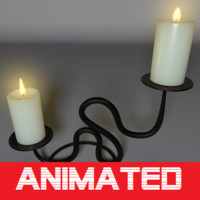 3d realistic candle holder model